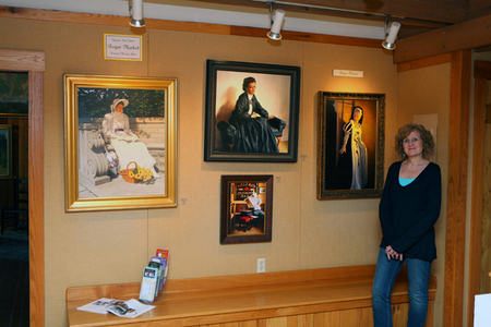 Brown County Gallery with Rogers work on display.